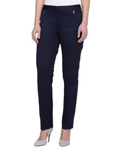 Side Zip Slim Fit Pants by Tahari Arthur S. Levine  in Chelsea