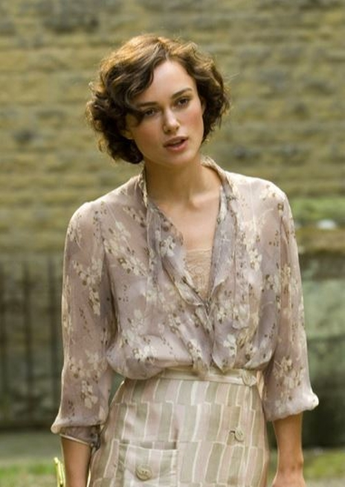 Custom Made Sheer Floral Blouse by Jacqueline Durran (Costume Designer) in Atonement