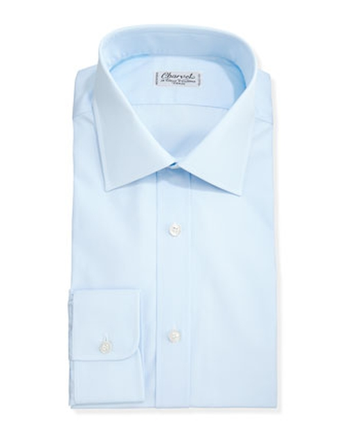 Solid Poplin Dress Shirt by Charvet in The Best of Me