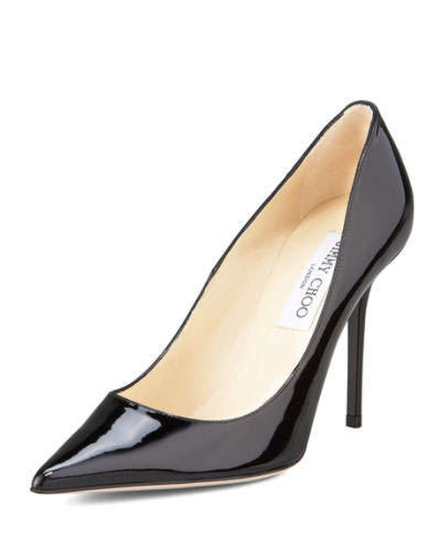 Abel Point-Toe Patent Pump by Jimmy Choo in Mean Girls