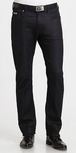 Slim-Fit Denim Pants by Armani Collezioni in Fifty Shades of Grey