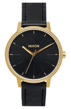 'The Kensington' Leather Strap Watch by Nixon in The Flash