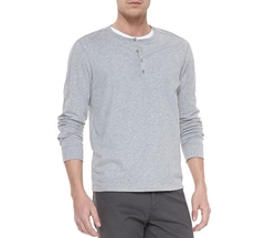 Long-Sleeve Jersey Henley by Vince in The Bachelor