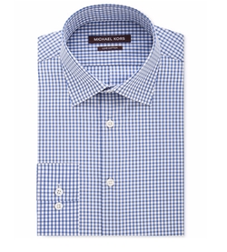 Blueberry Check Dress Shirt by Michael Kors in Teenage Mutant Ninja Turtles: Out of the Shadows