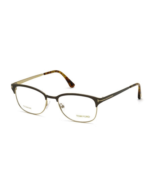 Shiny Metal Square Eyeglasses by Tom Ford in X-Men: Apocalypse