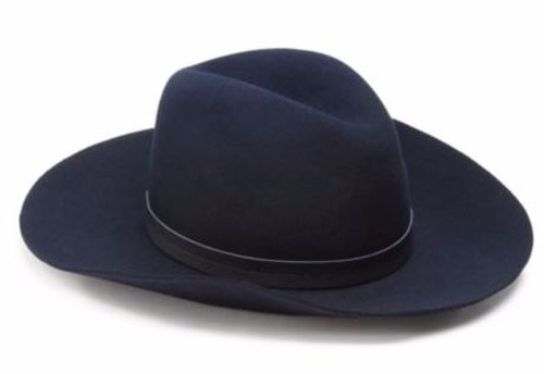Wide Brim Wool Fedora Hat by Rag & Bone  in Wonder Woman