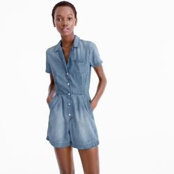 Petite Chambray Romper by J.Crew in New Girl