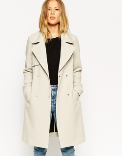 Trench Coat In Bonded Cloth by ASOS in Pretty Little Liars