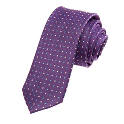 Chevron Dot Silk Tie by Alara in Snowden