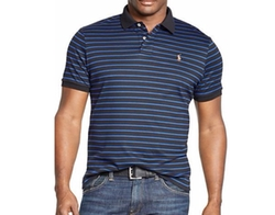 Men's Striped Soft-Touch Polo Shirt by Polo Ralph Lauren  in Ballers