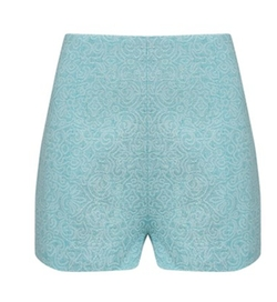 Mint Jacquard High Waisted Shorts by A.W.A.K.E. in Scream Queens