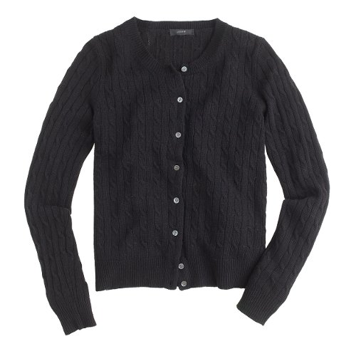 Cambridge Cable Cardigan Sweater by J. Crew in That Awkward Moment