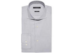 Slim-Fit Pique Dobby Solid Dress Shirt by Isaac Mizrahi in Modern Family