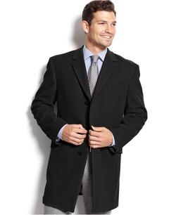 Cashmere-Blend Trim-Fit Over Coat by Tommy Hilfiger in The Good Wife