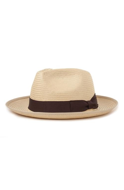 'Spade' Straw Fedora Hat by Brixton in Chi-Raq