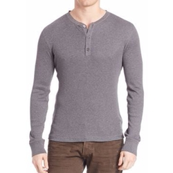 Ribbed Henley Tee by Polo Ralph Lauren in Supergirl