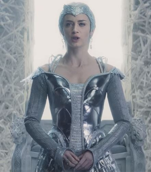 Custom Made 'Freya' Armored Dress by Colleen Atwood (Costume Designer) in The Huntsman: Winter's War