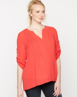 Pleated Maternity Blouse by BCBGMaxazria in How To Get Away With Murder