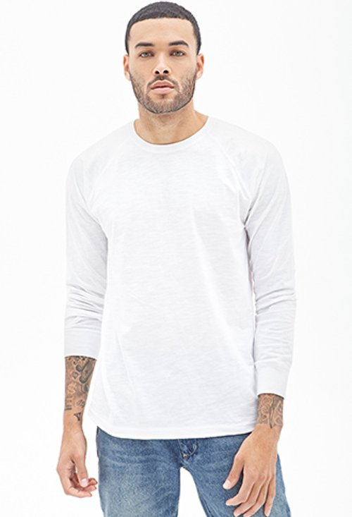 Slub Knit Crew Neck Sweater by Forever21 in Need for Speed