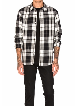 Norfolk Plaid Button Down Shirt by Stussy in The Ranch