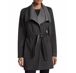 Oversized Two-Tone Belted Wool Coat by Elie Tahari in The Girl on the Train