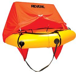 Coastal Compact 4 Person Liferaft with Canopy by Revere in Unbroken