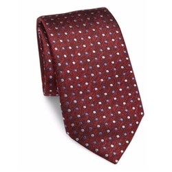 Dotted Silk Tie by Saks Fifth Avenue Collection in Modern Family