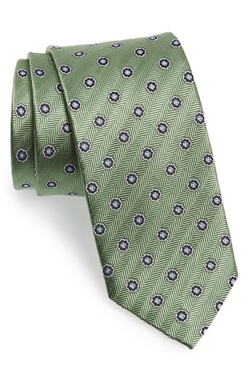 Medallion Silk Tie by J.Z. Richards in Rosewood