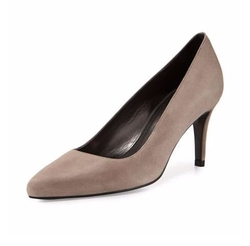 Tessa Suede Mid-Heel Pumps by Stuart Weitzman in Scream Queens