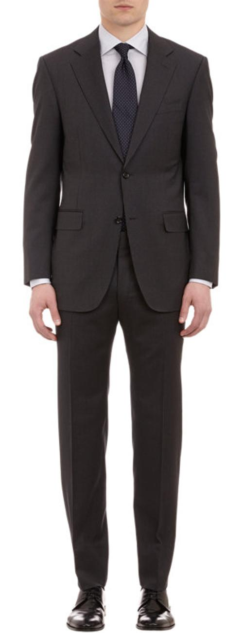 Narrow-Stripe Wool Two-Button Suit by CANALI in Yves Saint Laurent