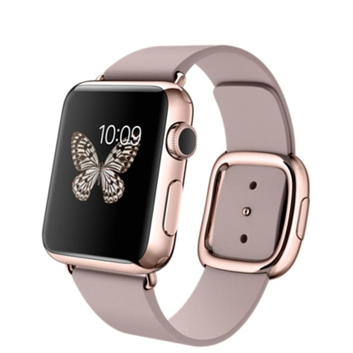 Rose Gold Case with Rose Gray Modern Buckle Watch by Apple in Pretty Little Liars - Season 7 Episode 2