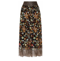 Kamryn Embroidered Tulle Maxi Skirt by Alice + Olivia in Girls Trip