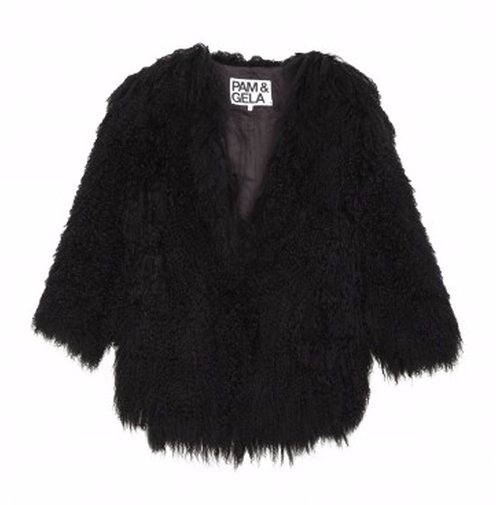 Cropped Mongolian Fur Coat by Pam & Gela in Keeping Up With The Kardashians - Season 12 Episode 2
