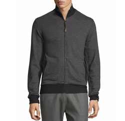 Jacquard Knit Track Jacket by Billy Reid in The Foreigner