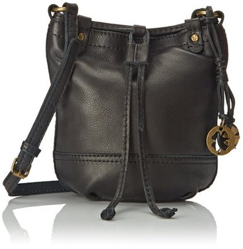 Leather Baby Bucket Cross Body Bag by Lucky Brand in She's Funny That Way