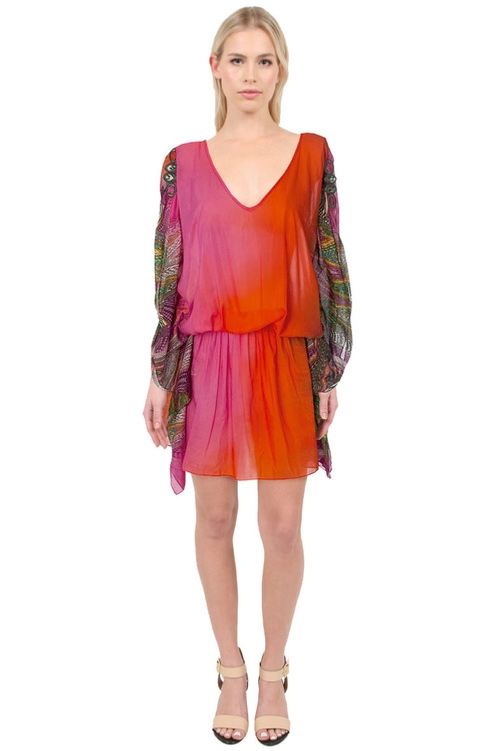 Cover Up Kaftan Dress by Caffe Swimwear in Keeping Up With The Kardashians - Season 11 Episode 7