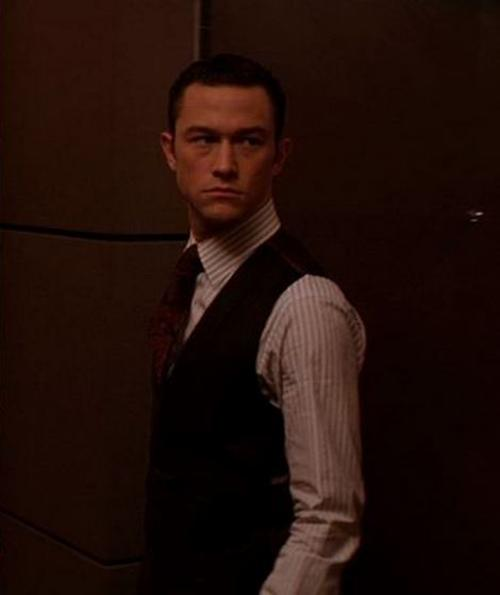 Custom Made Pinstripe Dress Shirt by Jeffrey Kurland (Costume Designer) and Anto Beverly Hills (Tailor) in Inception