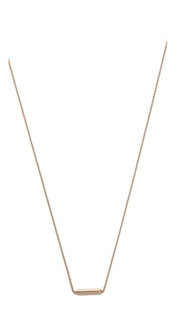 Rose Gold Strip Necklace by Ginette_ny in Ride Along 2