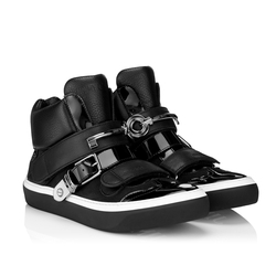 Barclay Men's Leather High-Top Sneakers by Jimmy Choo in Empire