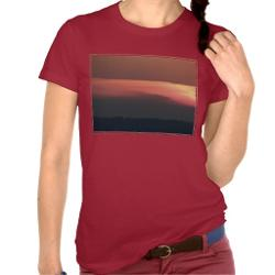 Red Sunset T-shirt by Zazzle in Addicted