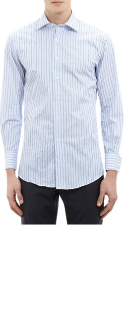 Striped Dress Shirt by Barneys New York in (500) Days of Summer