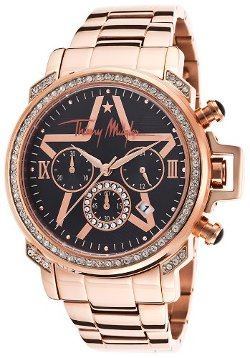 Rose-Tone Bracelet Black Dial Watch by Thierry Mugler in San Andreas