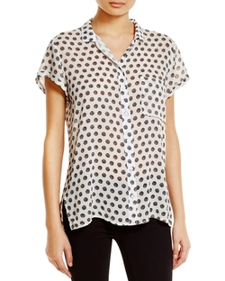 Dot Print Shirt by Side Stitch in Daredevil