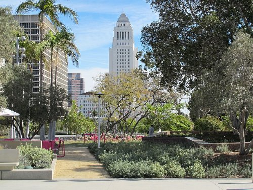 Grand Park Los Angeles, California in (500) Days of Summer
