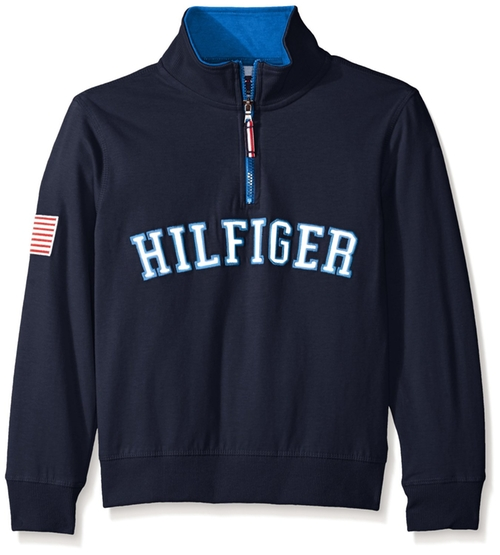 Big Boys' Half-Zip Pullover Sweater by Tommy Hilfiger in Jurassic World