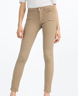 Skinny Mid-Rise Trousers by Zara in The Bachelorette