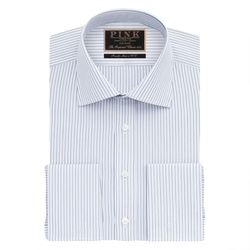 Wrighton Stripe Slim Fit Double Cuff Shirt by Thomas Pink in Scandal