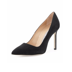 BB Suede Point-Toe Pumps by Manolo Blahnik in House of Cards
