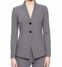 Two-Button Collarless Blazer by Armani Collezioni in The Good Wife