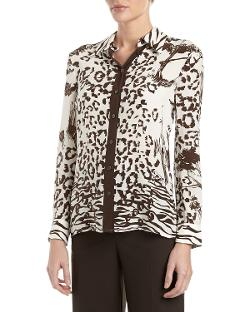 Animal/Landscape-Print Blouse by Philosophy di Alberta Ferretti in Tammy